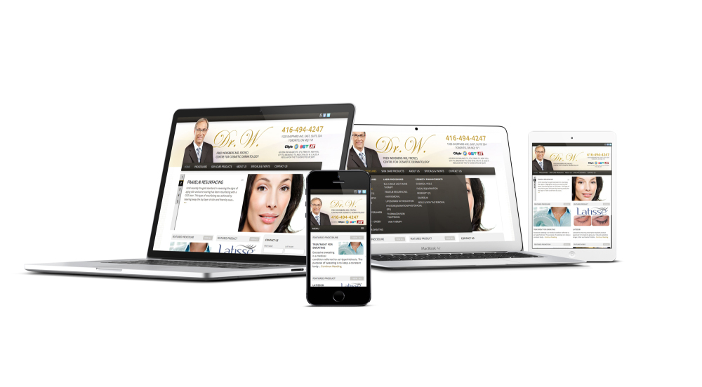 Responsive Website, Dr. Weksberg Cosmetic
