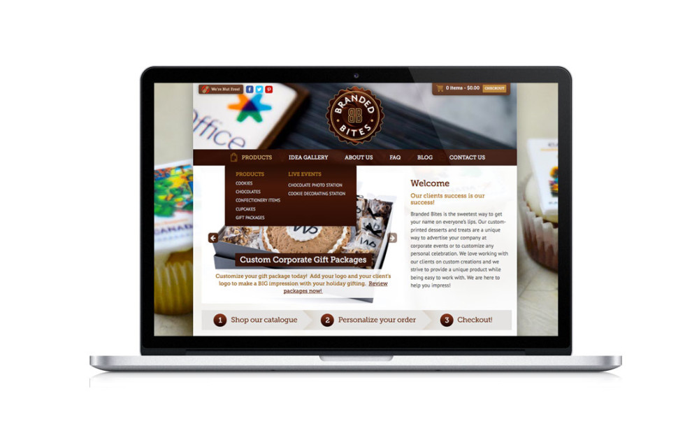 Branded Bites E-commerce design & development