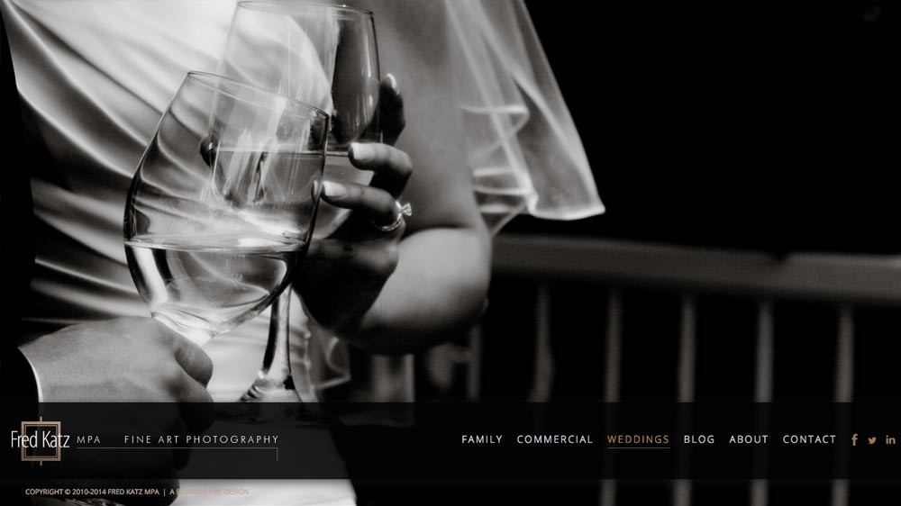 Web design and development, Fred Katz Photography
