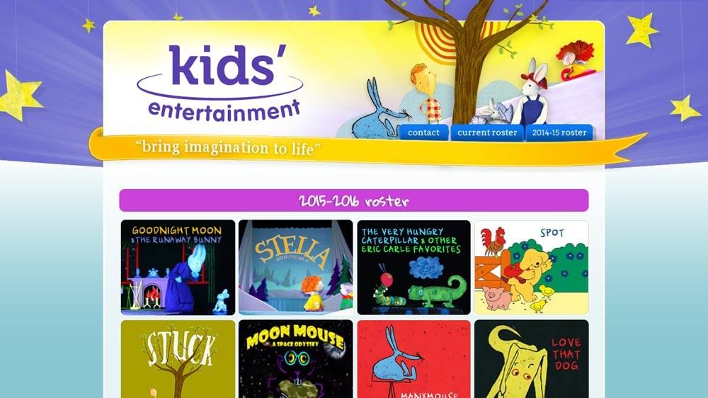 Website Design - Kids' Entertainment