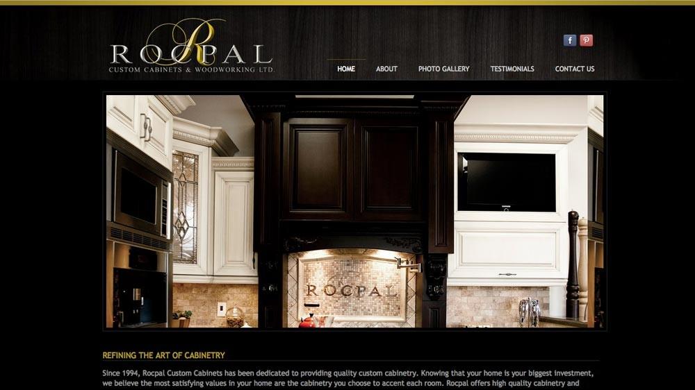 Web Design & Development, Rocpal Custom Cabinets