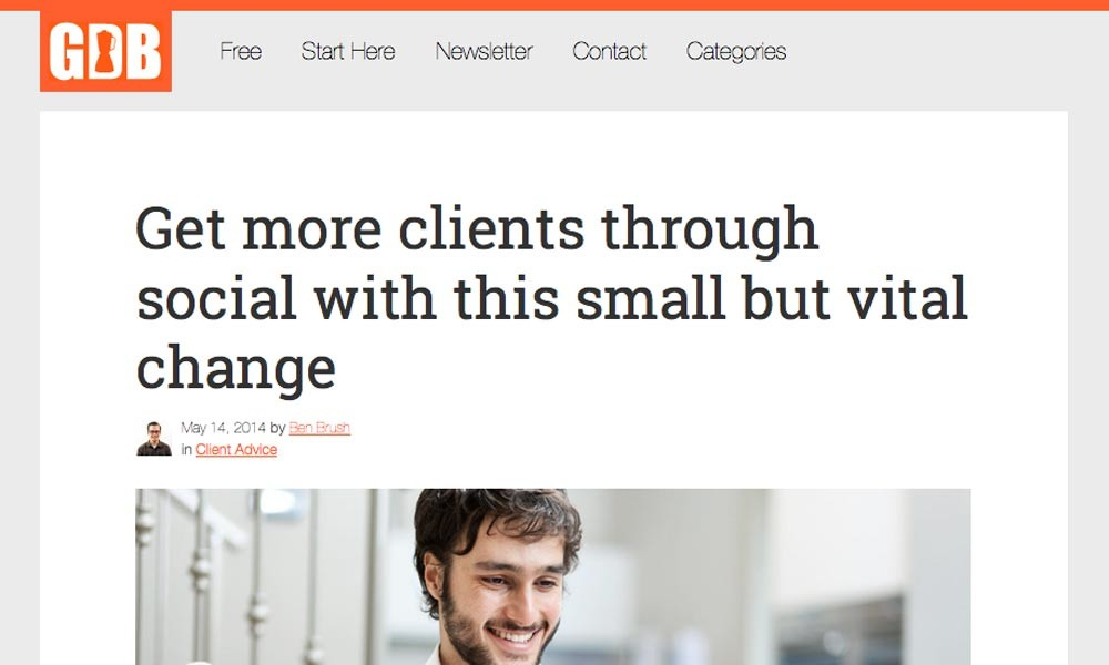 Get more clients through social with this small but vital change