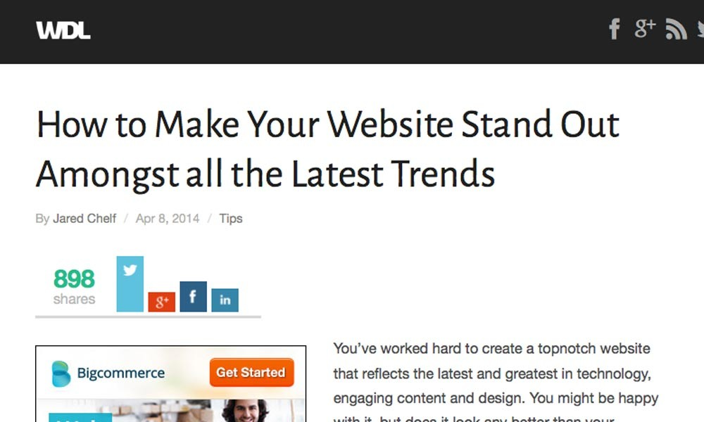 How to Make Your Website Stand Out Amongst all the Latest Trends
